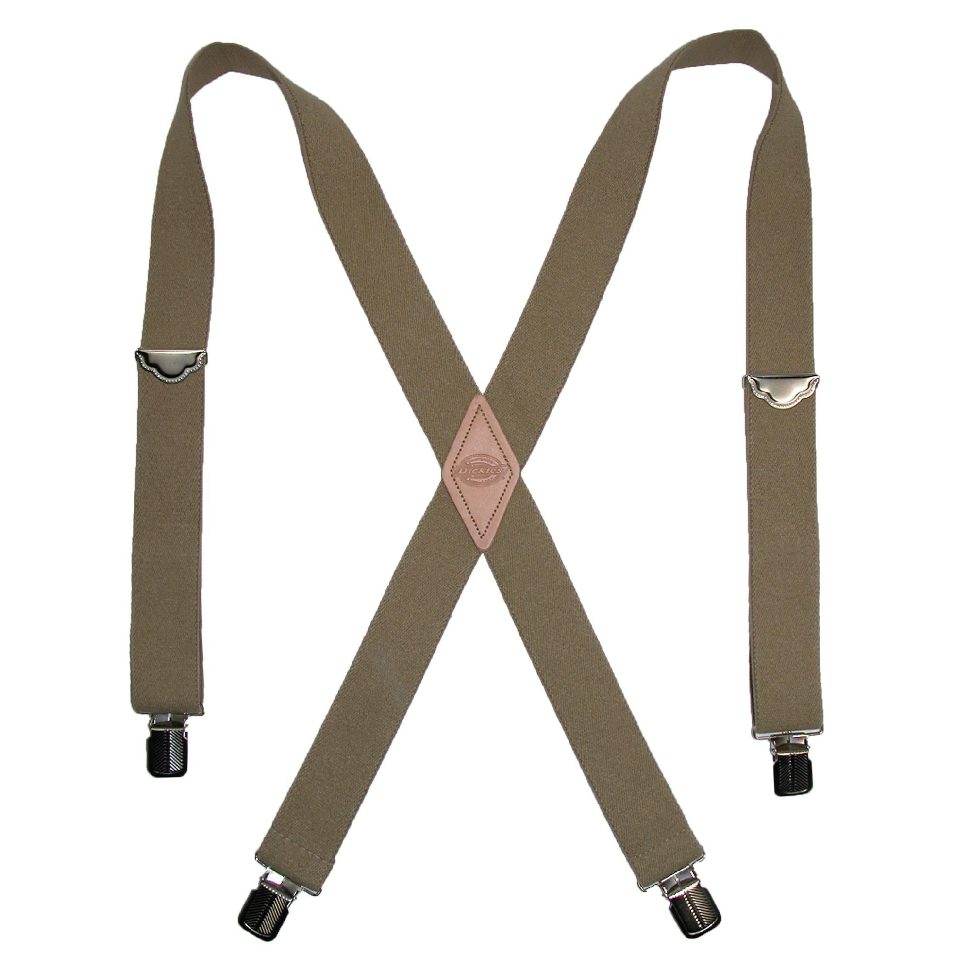 Dickies Men/'s Perry Suspenders Beige One Size New Free Shipping