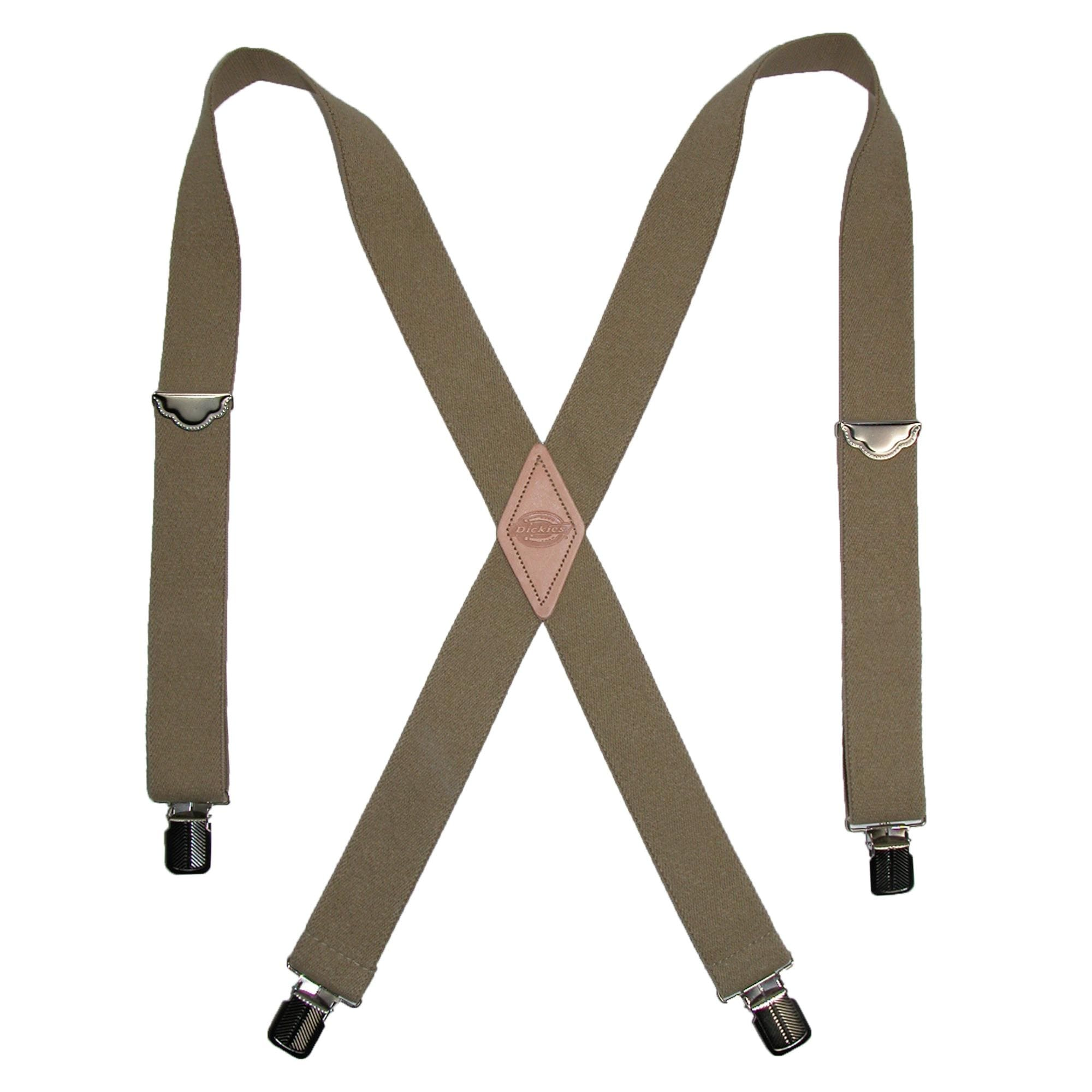 Leather Men/'s Suspenders Fashion Solid Hook Buckle Braces Elastic Adjustable Men