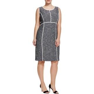 Lafayette 148 Womens Plus Mariana Wear to Work Dress Marled Sheath - 22W
