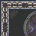 Handmade 100% Cotton Celtic Wheel of Life Tapestry Bedspread Twin 70x104 and Full 88x104 in Black Tan & Black Purple colors - Thumbnail 6