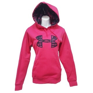 Women's Under Armour 1221640 ColdGear Fleece Big Logo Hoodie Pink X-Small