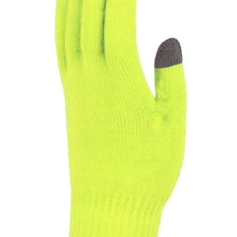 Peach Couture Vibrant Neon Touch Screen Knit Gloves in Bright Colors