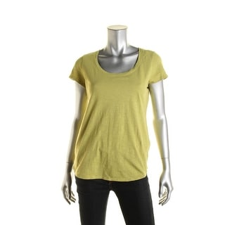 Eileen Fisher Womens T-Shirt Scoop Neck High Low