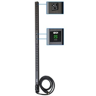 Tripp Lite Metered Pdu, 30A, 24 Outlets (5-15/20R), 120V, L5-30P, 10 Ft. Cord, 0U Vertical Rack-Mount Power (Pdumv30)