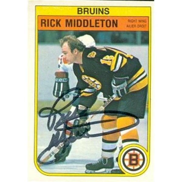 Shop Rick Middleton Autographed Hockey Card Boston Bruins 1982