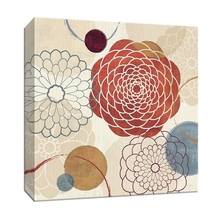 """PTM Images 9-152839  PTM Canvas Collection 12"""" x 12"""" - """"Abstract Bouquet I"""" Giclee Flowers Art Print on Canvas"""