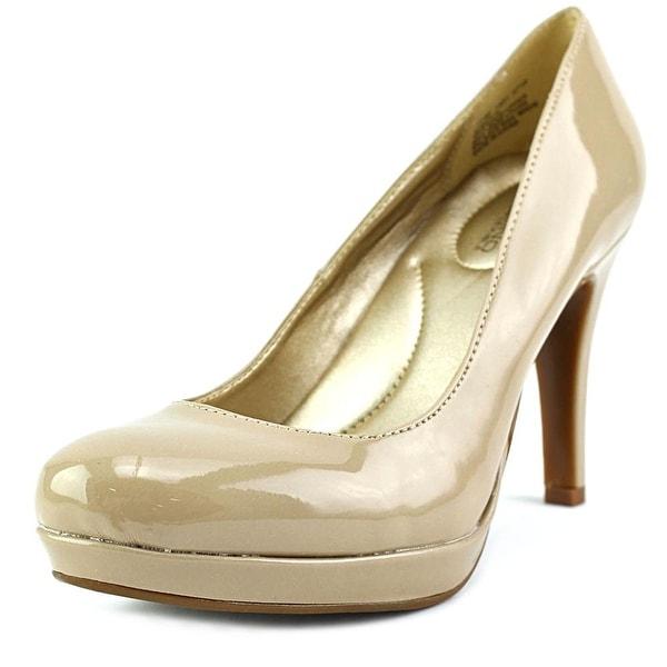 Bandolino Berta Women Round Toe Leather Nude Heels