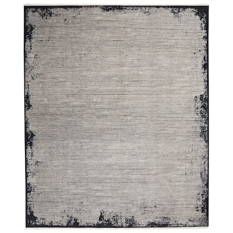Calvin Klein Balian Bordered Grey/Black Area Rug