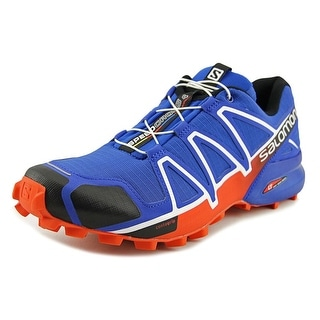 Salomon Speedcross 4  Men  Round Toe Synthetic Blue Trail Running