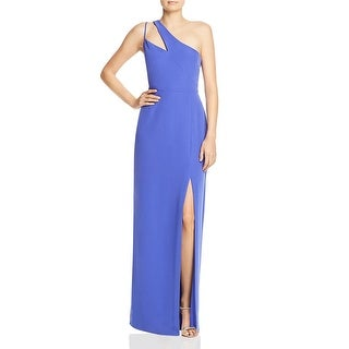 Link to Laundry by Shelli Segal Womens Evening Dress One Shoulder Side Slit Similar Items in Dresses