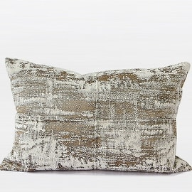 "G Home Collection Luxury Light Gold Mix Color Metallic Chenille Pillow 14""X20"""
