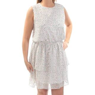 Cynthia Rowley 139 Womens New 1104 Ivory Fl Sleeveless Dress M B