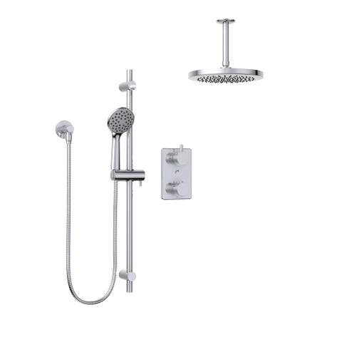 Belanger KIT-UNI140TSCP07 Universal Thermostatic Shower System from Ceiling