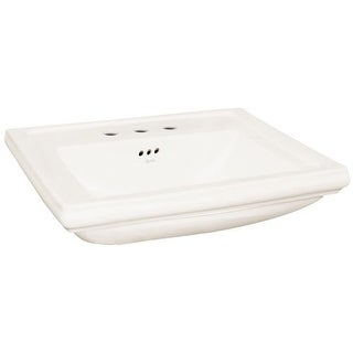 """Rohl FE2373 24"""" Pedestal Bathroom Sink with 3 Holes Drilled"""