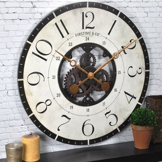 Link to FirsTime & Co.® Carlisle Gears Wall Clock, Wood, 27 x 2 x 27 in, American Designed - 27 x 2 x 27 in Similar Items in Decorative Accessories