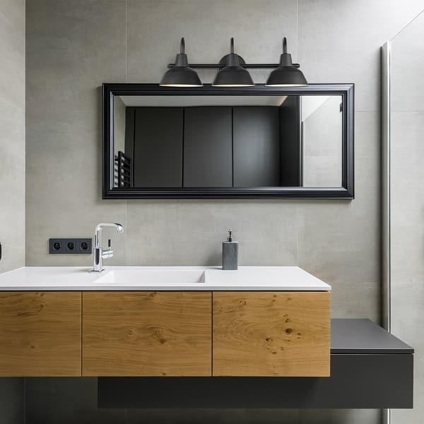 Brooklyn 5 Piece Matte Black Bathroom Set With 3 Light Vanity Light 9 5 Overstock 32639176