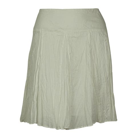 INC International Concepts Women's Cotton Mini Skirt - White - 16