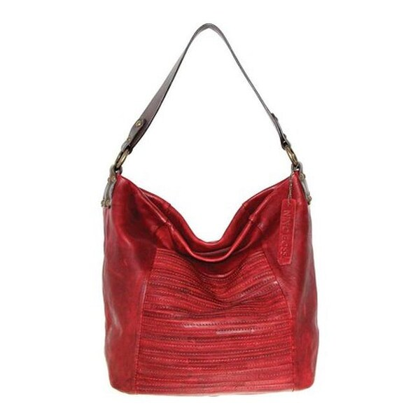 5e0c9d9d52 Shop Nino Bossi Women s Jaiden Leather Shoulder Bag Burgundy - US Women s  One Size (Size None) - Free Shipping Today - Overstock.com - 25773997