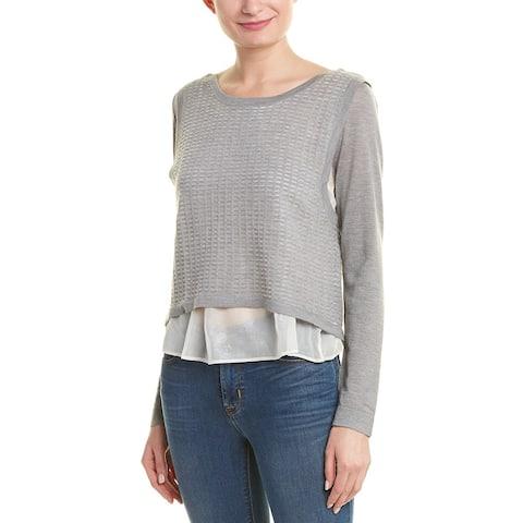 Quinn Shirttail Silk-Lined Cashmere-Blend Sweater