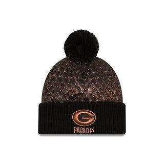 New Era Green Bay Packers Metallic Crush Knit Hat