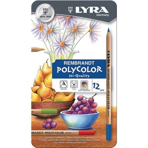 Lyra - Rembrandt Polycolor Colored Pencil Set - 72-Color Set