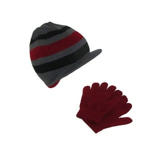 Dorfman Pacific Kids' Knit Radar Hat and Gloves Winter Set - One Size