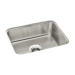 "Sterling 97447 McAllister 24"" Single Basin Undermount Stainless Steel Kitchen Sink with SilentShield"