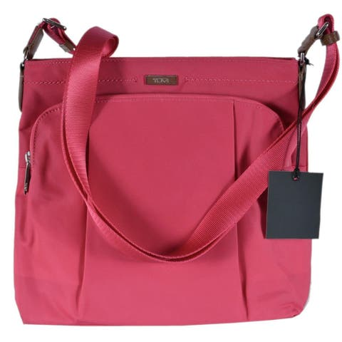 Tumi 0482910 Magenta Pink Nylon Jean Crossbody Purse Day Bag