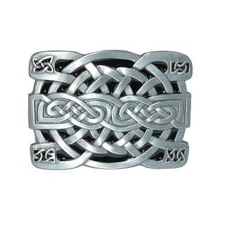 CTM® Celtic Knot Belt Buckle - Silver - One Size