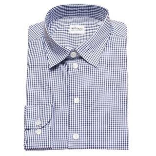 Armani Collezioni Men Slim Fit Cotton Dress Shirt Navy Light Blue|https://ak1.ostkcdn.com/images/products/is/images/direct/848c64db6cffa7f65df78ea7405034b94f445e0c/Armani-Collezioni-Men-Slim-Fit-Cotton-Dress-Shirt-Navy-Light-Blue.jpg?impolicy=medium