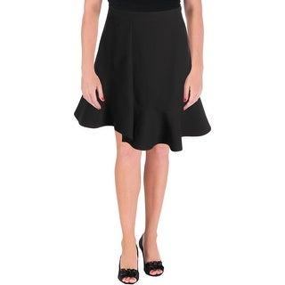 Carven Womens Mini Skirt Crepe Ruffled - 34