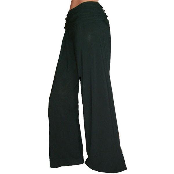 Shop Funfash Flare Long Black Gaucho Palazzo Career Pants Women Plus