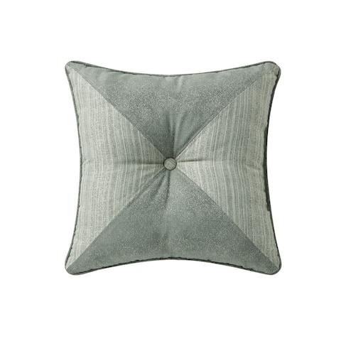 "Waterford Garner 18"" x 18"" Tufted Pillow"