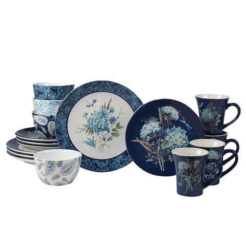Certified International Bohemian Blue 16-piece Dinnerware Set, Service for 4