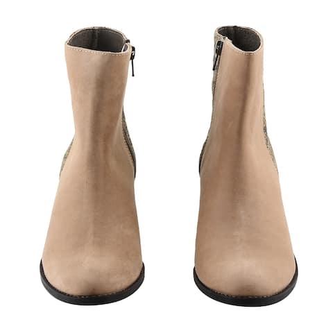 Shop LC NOMAD Beige Jackie Zip Anti Slip Stacked Bootie-Size 7