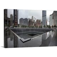 Premium Thick-Wrap Canvas entitled Ground zero site in New York - Multi-color