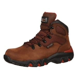 "Rocky Work Boots Mens 5"" Bigfoot Waterproof Hiker Brown"