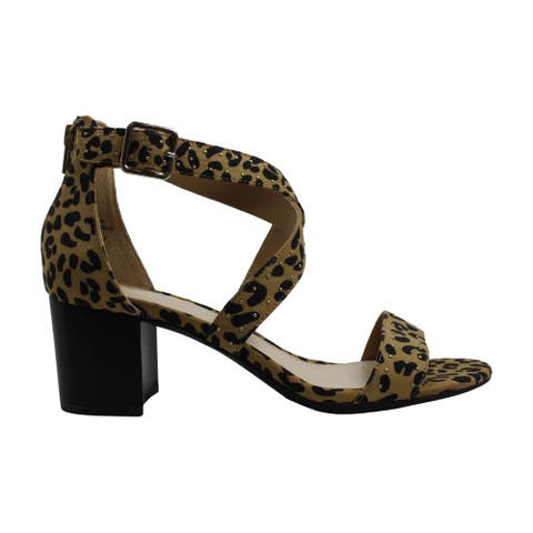 Bar III Womens baylee Open Toe Ankle Strap Classic Pumps