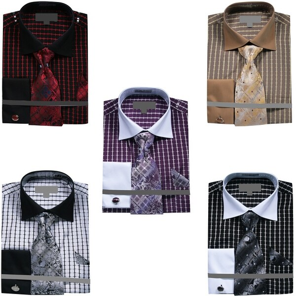 Men/'s Tone On Tone French Cuff Shirt Cufflinks