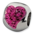 Sterling Silver Reflections Pink Graduated Crystal Heart Bead - Thumbnail 0