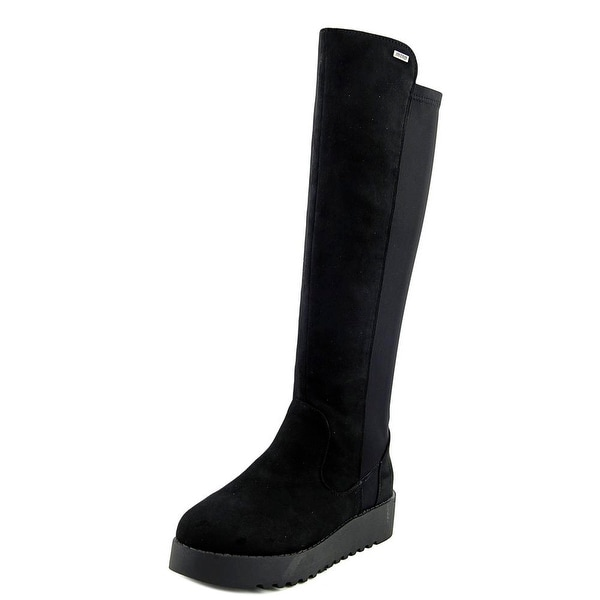 MTNG 51830 Round Toe Canvas Knee High Boot