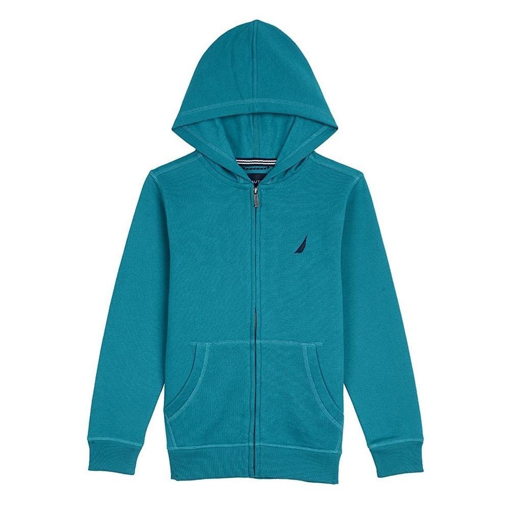 Grey Nautica Boys/' Fleece Full Zip Hoodie with Pouch Pocket 3T
