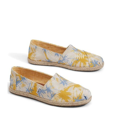 Toms Womens Canvas Closed Toe Loafers