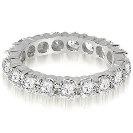 2.90 cttw. 14K White Gold Round Shared Prong Diamond Eternity Ring