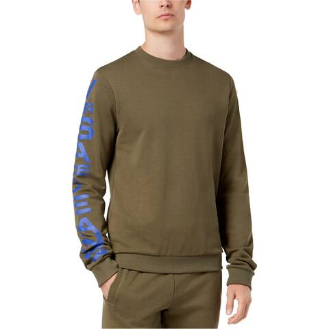Versace Mens Vertical Logo Sweatshirt, Green, Medium