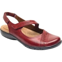 Rockport Women's Cobb Hill Penfield Closed Toe Sandal Bordeaux Leather