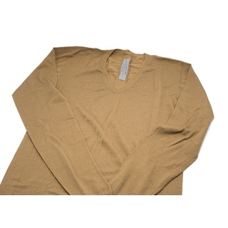 Rick Owens Men's Camel Brown Medium Maglia V Neck Jumper - M