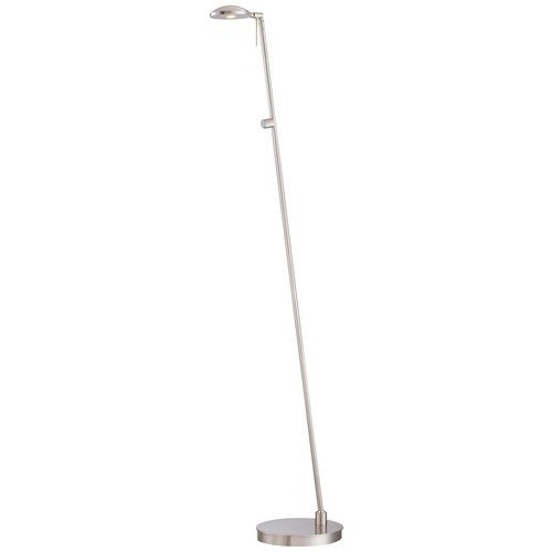 Kovacs P4334-084 1 Light LED Floor Lamp in Brushed Nickel from the George's Reading Room-Jelly Bean Collection