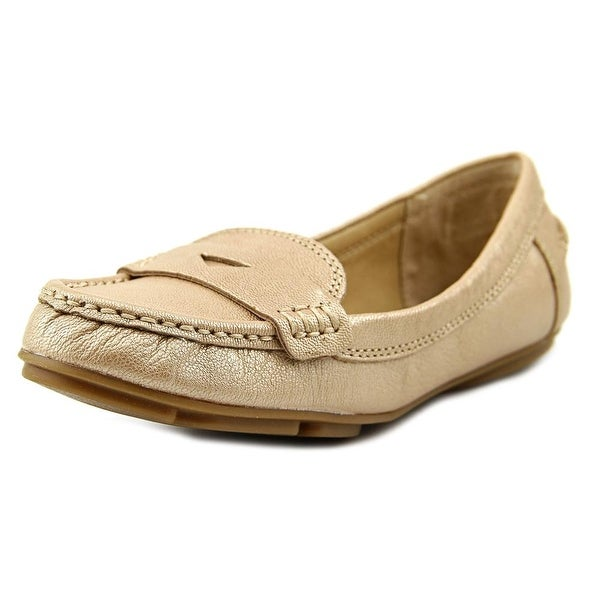 Lucky Brand Feverton Women  Round Toe Leather Gold Loafer