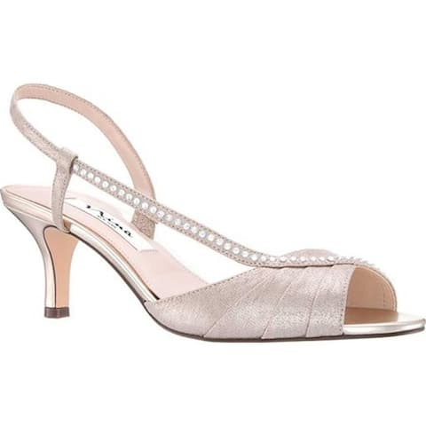 Nina Women's Cabell Slingback Taupe Metallic Synthetic